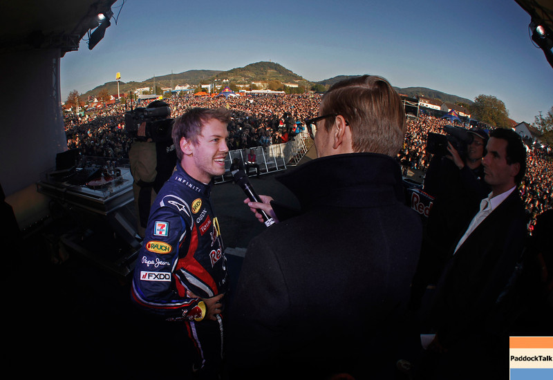 GEPA-22101199531 - FORMULA 1 - World Championship Party. Image shows Sebastian Vettel (GER/ Red Bull Racing). Photo: Getty Images/ Daniel Grund - For editorial use only. Image is free of charge