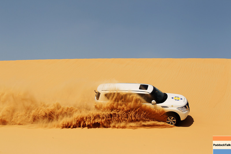 GEPA-09111199010 - FORMULA 1 - Grand Prix of Abu Dhabi, Yas Marina Circuit, preview, Sand Dune Safari. Image shows Mark Webber (AUS/ Red Bull Racing) on a Sand Dune Safari.  Photo: Getty Images/ Mark Thompson - For editorial use only. Image is free of charge