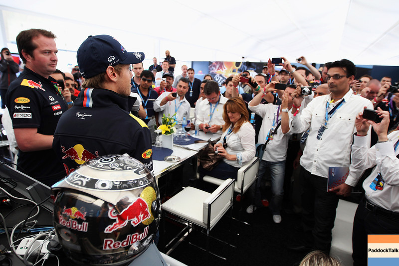 GEPA-11061199032 - FORMULA 1 - Grand Prix of Canada. Image shows Sebastian Vettel (GER/ Red Bull Racing) in the Red Bull Racing Hospitality. Photo: Mark Thompson/ Getty Images - For editorial use only. Image is free of charge