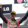 GEPA-26061199005 - FORMULA 1 - Grand Prix of Europe. Image shows Sebastian Vettel (GER/ Red Bull Racing). Keywords: award ceremony, podium, trophy. Photo: Clive Rose/ Getty Images - For editorial use only. Image is free of charge