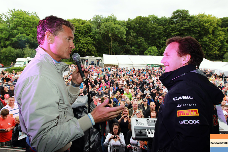 GEPA-09071199027 - FORMULA 1 - Grand Prix of Great Britain. Image shows consultant David Coulthard (GBR) and team principal Christian Horner (Red Bull Racing). Photo: Getty Images/ Paul Gilham - For editorial use only. Image is free of charge