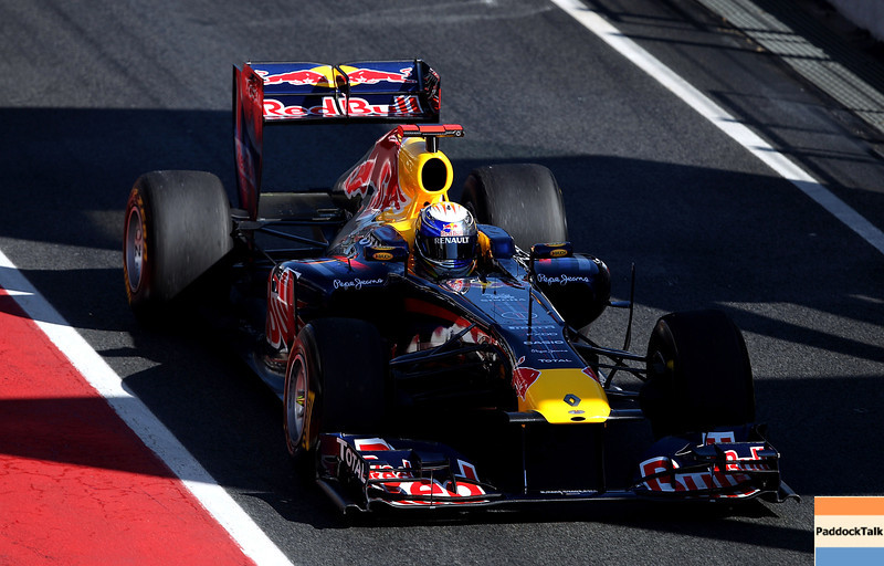 GEPA-18021199002 - FORMULA 1 - Testing in Barcelona, Circuit de Catalunya. Image shows Sebastian Vettel (GER/ Red Bull Racing). Photo: Vladimir Rys/ Getty Images - For editorial use only. Image is free of charge