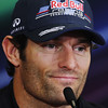GEPA-23061199003 - FORMULA 1 - Grand Prix of Europe, press conference. Image shows Mark Webber (AUS/ Red Bull Racing). Photo: Paul Gilham/ Getty Images - For editorial use only. Image is free of charge