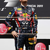 GEPA-26061199000 - FORMULA 1 - Grand Prix of Europe. Image shows Sebastian Vettel (GER/ Red Bull Racing). Keywords: award ceremony, podium. Photo: Paul Gilham/ Getty Images - For editorial use only. Image is free of charge