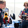 GEPA-15081199000 - FORMULA 1 - Red Bull Showrun. Image shows David Coulthard (GBR) and Tom Cruise. Photo: Red Bull Content Pool/ Garth Milan - For editorial use only. Image is free of charge