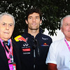 GEPA-26031199000 - FORMULA 1 - Grand Prix of Australia. Image shows Sir Jack Brabham, Mark Webber (AUS/ Red Bull Racing) and Alan Jones. Photo: Getty Images/ Clive Mason - For editorial use only. Image is free of charge