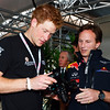 GEPA-10071199004 - FORMULA 1 - Grand Prix of Great Britain. Image shows Prince Harry and team principal Christian Horner (Red Bull Racing Team). Photo: Getty Images/ Mark Thompson - For editorial use only. Image is free of charge