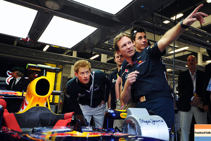 GEPA-10071199000 - FORMULA 1 - Grand Prix of Great Britain. Image shows Prince Harry and team principal Christian Horner (Red Bull Racing). Photo: Getty Images/ Clive Mason - For editorial use only. Image is free of charge