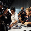 GEPA-10101199010 - FORMULA 1 - Grand Prix of Japan. Image shows Sebastian Vettel (GER/ Red Bull Racing) giving an autograph. Keyword: fans. Photo: Getty Images/ Clive Mason - For editorial use only. Image is free of charge