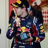 GEPA-29051199011 - FORMULA 1 - Grand Prix of Monaco. Image shows the rejoicing of Sebastian Vettel (GER/ Red Bull Racing). Keywords: Podium, award ceremony, trophy. Photo: Paul Gilham/ Getty Images - For editorial use only. Image is free of charge