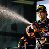 GEPA-27031199020 - FORMULA 1 - Grand Prix of Australia, award ceremony. Image shows the rejoicing of Sebastian Vettel (GER/ Red Bull Racing). Photo: Getty Images/ Paul Gilham - For editorial use only. Image is free of charge