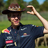 GEPA-23031199009 - FORMULA 1 - Grand Prix of Australia, preview. Image shows Sebastian Vettel (GER/ Red Bull Racing) at Warrok Cattle Farm. Photo: Getty Images/ Mark Watson - For editorial use only. Image is free of charge