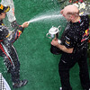 GEPA-10041199014 - FORMULA 1 - Grand Prix of Malaysia, Sepang Circuit. Image shows Sebastian Vettel (GER) and Chief Technical Officer Adrian Newey (Red Bull Racing). Keywords: award ceremony, podium, trophy. Photo: Getty Images/ Mark Thompson - For editorial use only. Image is free of charge