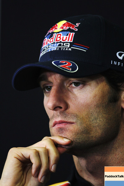 GEPA-19051199002 - FORMULA 1 - Grand Prix of Spain, press conference. Image shows Mark Webber (AUS/ Red Bull Racing). Photo: Paul Gilham/ Getty Images - For editorial use only. Image is free of charge