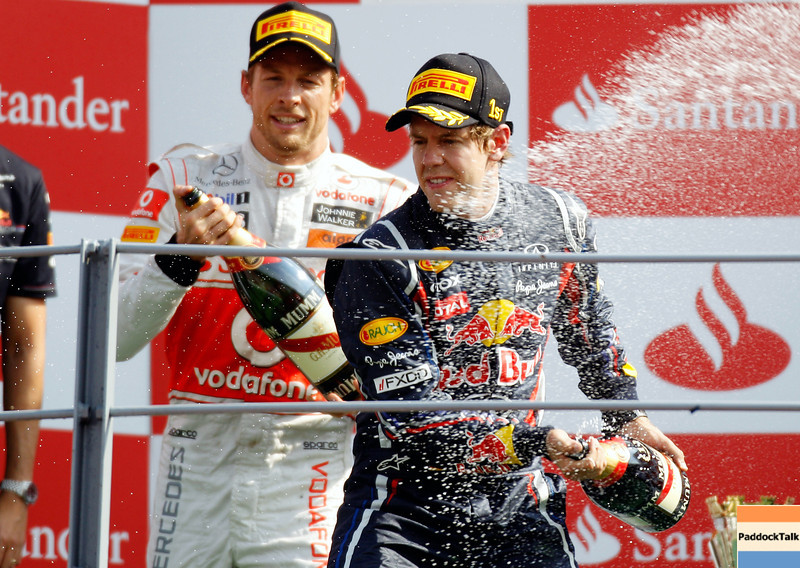 GEPA-11091199000 - FORMULA 1 - Grand Prix of Italy. Image shows Sebastian Vettel (GER/ Red Bull Racing). Keywords: podium, award ceremony. Photo: Getty Images/ Paul Gilham - For editorial use only. Image is free of charge