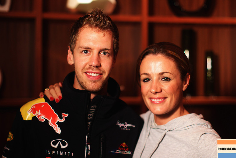 GEPA-09101199100 - FORMULA 1 - Grand Prix of Japan. Image shows Sebastian Vettel (GER/ Red Bull Racing) and Natalie Pinkham. Photo: Getty Images/ Mark Thompson - For editorial use only. Image is free of charge