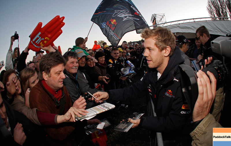 GEPA-22101199529 - FORMULA 1 - World Championship Party. Image shows Sebastian Vettel (GER/ Red Bull Racing).  Photo: Getty Images/ Daniel Grund - For editorial use only. Image is free of charge