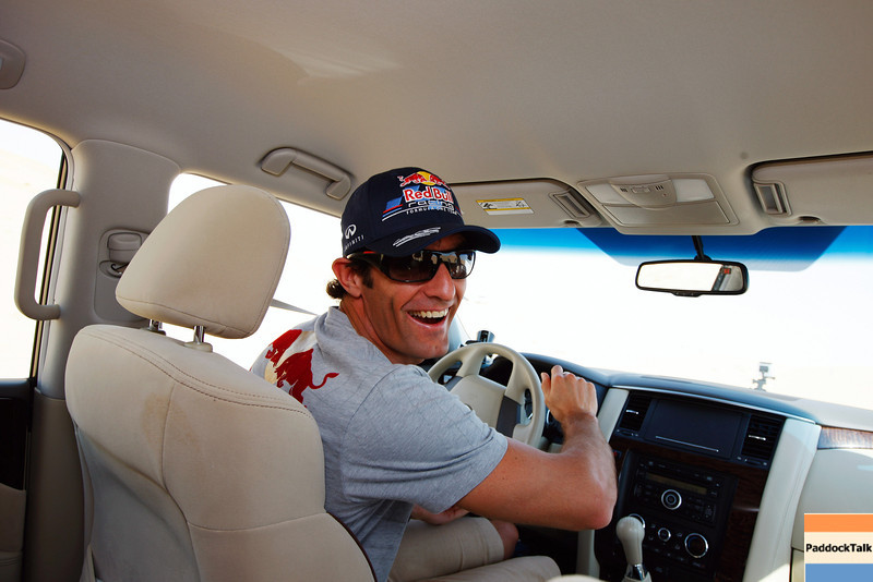 GEPA-09111199006 - FORMULA 1 - Grand Prix of Abu Dhabi, Yas Marina Circuit, preview, Sand Dune Safari. Image shows Mark Webber (AUS/ Red Bull Racing). Photo: Getty Images/ Mark Thompson - For editorial use only. Image is free of charge
