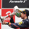 GEPA-30101199020 - FORMULA 1 - Grand Prix of India, Buddh-International-Circuit. Image shows Sebastian Vettel (GER/ Red Bull Racing). Keywords: award ceremony, podium, trophy. Photo: Getty Images/ Mark Thompson - For editorial use only. Image is free of charge