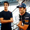 GEPA-23061199009 - FORMULA 1 - Grand Prix of Europe. Image shows Daniel Ricciardo (AUS) and Mark Webber (AUS/ Red Bull Racing). Photo: Paul Gilham/ Getty Images - For editorial use only. Image is free of charge