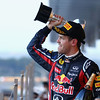 GEPA-09101199015 - FORMULA 1 - Grand Prix of Japan. Image shows the rejoicing of Sebastian Vettel (GER/ Red Bull Racing). Keywords: award ceremony, trophy. Photo: Getty Images/ Clive Mason - For editorial use only. Image is free of charge