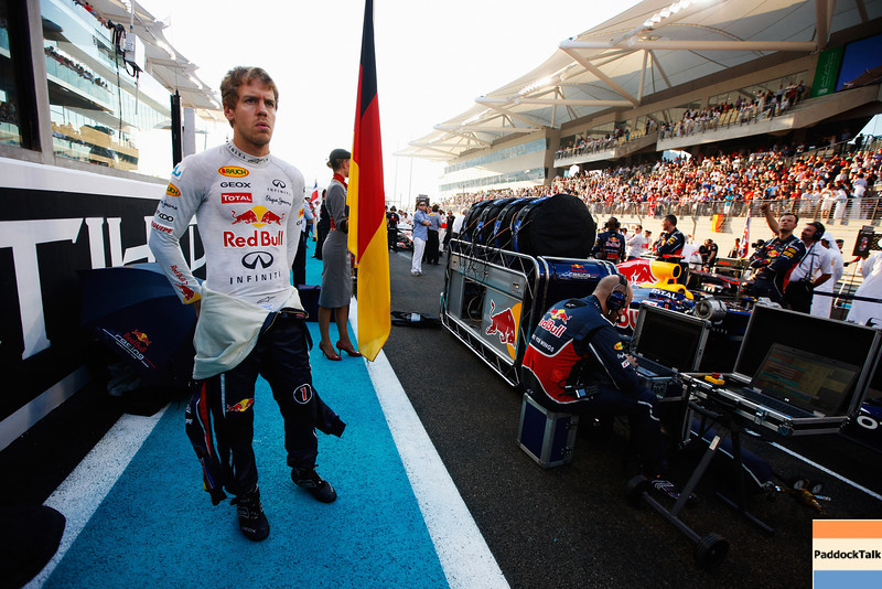 GEPA-13111199011 - FORMULA 1 - Grand Prix of Abu Dhabi, Yas Marina Circuit. Image shows Sebastian Vettel (GER/ Red Bull Racing). Photo: Getty Images/ Mark Thompson - For editorial use only. Image is free of charge