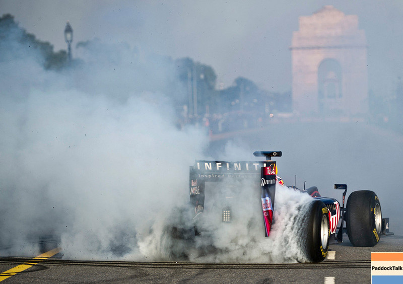 GEPA-01101199702 - FORMULA 1 - Grand Prix of India, preview, showrun. Image shows Daniel Ricciardo (AUS). Photo: Getty Images - For editorial use only. Image is free of charge
