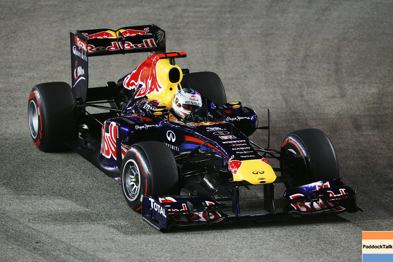 GEPA-25091199005 - FORMULA 1 - Grand Prix of Singapore. Image shows Sebastian Vettel (GER/ Red Bull Racing). Photo: Getty Images/ Mark Thompson - For editorial use only. Image is free of charge