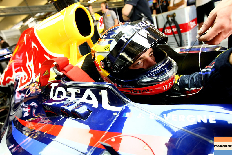 GEPA-15111199028 - FORMULA 1 - Testing in Abu Dhabi, Yas Marina Circuit, Young-Driver-Test. Image shows test driver Jean-Eric Vergne (FRA/ Red Bull Racing). Photo: Getty Images/ Andrew Hone - For editorial use only. Image is free of charge