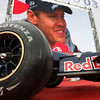 GEPA-15051181043 - SPIELBERG,AUSTRIA,15.MAY.11 - MOTORSPORT, FORMULA 1 - Open House Day Red Bull Ring, project Spielberg. Image shows a wheel and Sebastian Vettel (GER/ Red Bull Racing) on the videowall. Photo: GEPA pictures/ Christian Walgram - For editorial use only. Image is free of charge.