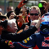 GEPA-08051199015 - FORMULA 1 - Grand Prix of Turkey. Image shows the rejoicing of Norbert Vettel and his son Sebastian Vettel (GER/ Red Bull Racing).  Photo: Paul Gilham/ Getty Images - For editorial use only. Image is free of charge