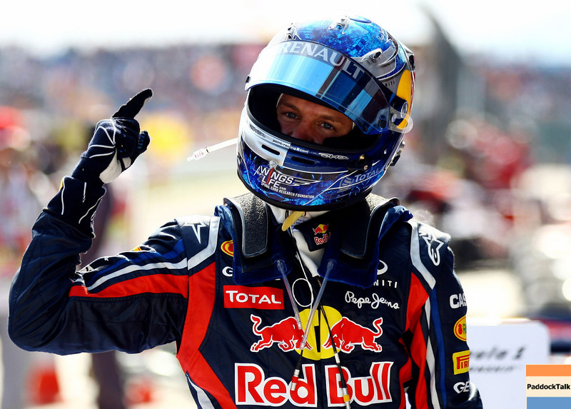 GEPA-08051199010 - FORMULA 1 - Grand Prix of Turkey. Image shows the rejoicing of Sebastian Vettel (GER/ Red Bull Racing).  Photo: Paul Gilham/ Getty Images - For editorial use only. Image is free of charge
