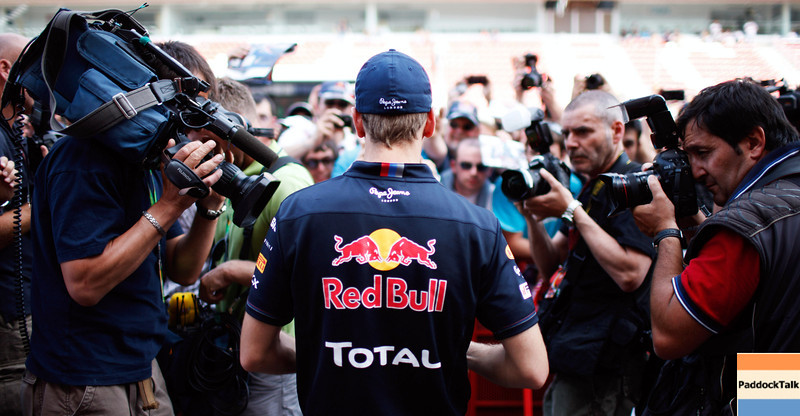 GEPA-19051199010 - FORMULA 1 - Grand Prix of Spain. Image shows Sebastian Vettel (GER/ Red Bull Racing) and fans. Photo: Mark Thompson/ Getty Images - For editorial use only. Image is free of charge