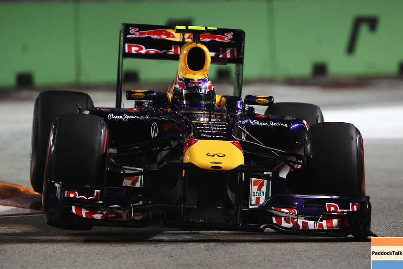 GEPA-24091199001 - FORMULA 1 - Grand Prix of Singapore. Image shows Mark Webber (AUS/ Red Bull Racing). Photo: Getty Images/ Mark Thompson - For editorial use only. Image is free of charge