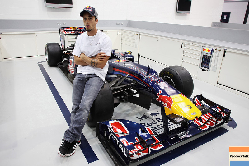 GEPA-08061199007 - FORMULA 1, MOTOGP - MotoGP Riders Visit Red Bull Factory. Image shows Andrea Dovizioso (ITA/ Honda). Photo: Getty Images/ Bryn Lennon - For editorial use only. Image is free of charge