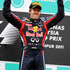 GEPA-10041199016 - FORMULA 1 - Grand Prix of Malaysia, Sepang Circuit. Image shows the rejoicing of Sebastian Vettel (GER/ Red Bull Racing). Keywords: award ceremony, podium. Photo: Getty Images/ Paul Gilham - For editorial use only. Image is free of charge