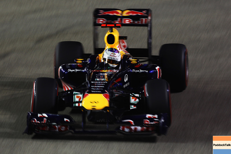GEPA-24091199021 - FORMULA 1 - Grand Prix of Singapore. Image shows Sebastian Vettel (GER/ Red Bull Racing). Photo: Getty Images/ Vladimir Rys - For editorial use only. Image is free of charge