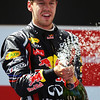 GEPA-22051199017 - FORMULA 1 - Grand Prix of Spain. Image shows Sebastian Vettel (GER/ Red Bull Racing). Keywords: award ceremony. Photo: Mark Thompson/ Getty Images - For editorial use only. Image is free of charge