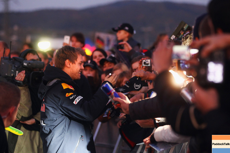 GEPA-22101199521 - FORMULA 1 - World Championship Party. Image shows Sebastian Vettel (GER/ Red Bull Racing). Photo: Getty Images/ Alex Grimm - For editorial use only. Image is free of charge