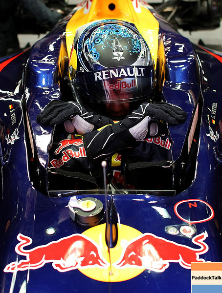 GEPA-09031199014 - FORMULA 1 - Testing in Barcelona, Circuit de Catalunya. Image shows Sebastian Vettel (GER/ Red Bull Racing). Photo: Vladimir Rys/ Getty Images - For editorial use only. Image is free of charge