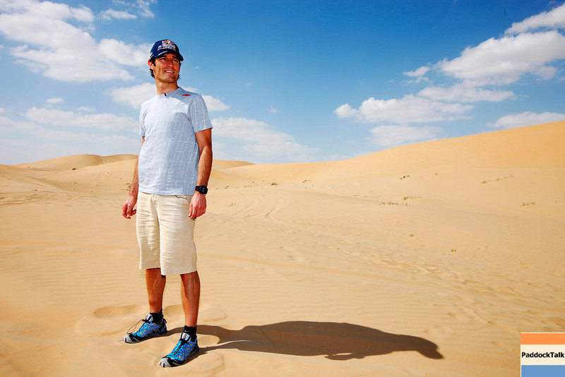 GEPA-09111199003 - FORMULA 1 - Grand Prix of Abu Dhabi, Yas Marina Circuit, preview, Sand Dune Safari. Image shows Mark Webber (AUS/ Red Bull Racing). Photo: Getty Images/ Mark Thompson - For editorial use only. Image is free of charge