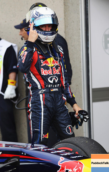 GEPA-11061199024 - FORMULA 1 - Grand Prix of Canada. Image shows the rejoicing of Sebastian Vettel (GER/ Red Bull Racing). Photo: Mark Thompson/ Getty Images - For editorial use only. Image is free of charge