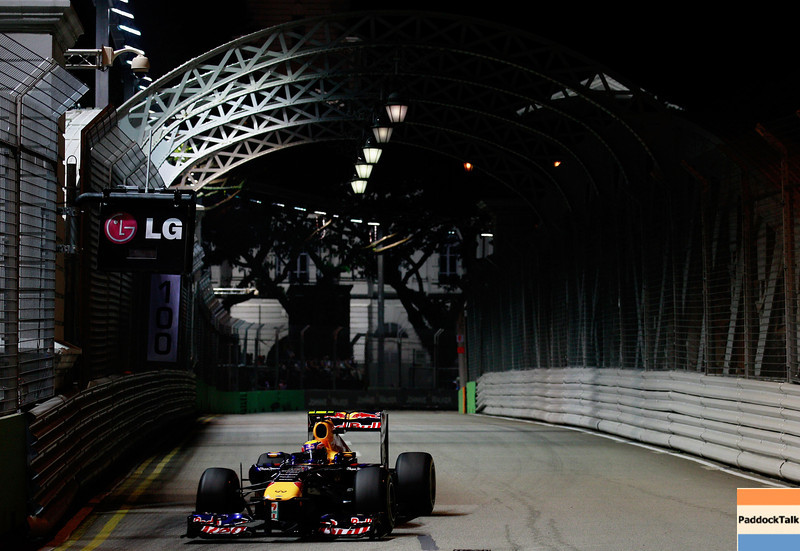 GEPA-24091199010 - FORMULA 1 - Grand Prix of Singapore. Image shows Mark Webber (AUS/ Red Bull Racing). Photo: Getty Images/ Paul Gilham - For editorial use only. Image is free of charge