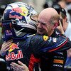 GEPA-10041199022 - FORMULA 1 - Grand Prix of Malaysia, Sepang Circuit. Image shows the rejoicing of Sebastian Vettel (GER) and Chief Technical Officer Adrian Newey (Red Bull Racing). Photo: Getty Images/ Clive Mason - For editorial use only. Image is free of charge