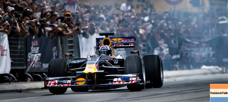 GEPA-03041199901 - FORMULA 1 - Red Bull Speed Street Kuala Lumpur 2011, Red Bull Showrun. Image shows David Coulthard (GBR). Photo: Victor Fraile - For editorial use only. Image is free of charge