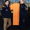 GEPA-03021199016 - FORMULA 1 - Testing in Valencia. Image shows team principal Christian Horner and chief technical oficer Adrian Newey (Red Bull Racing). Photo: Mark Thompson/ Getty Images - For editorial use only. Image is free of charge