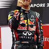 GEPA-25091199023 - FORMULA 1 - Grand Prix of Singapore. Image shows  the rejoicing of Sebastian Vettel (GER/ Red Bull Racing). Keywords: award ceremony. Photo: Getty Images/ Mark Thompson - For editorial use only. Image is free of charge