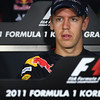 GEPA-13101199002 - FORMULA 1 - Grand Prix of South Korea, Korean International Circuit. Image shows Sebastian Vettel (GER/ Red Bull Racing). Keywords: press conference. Photo: Getty Images/ Clive Mason - For editorial use only. Image is free of charge