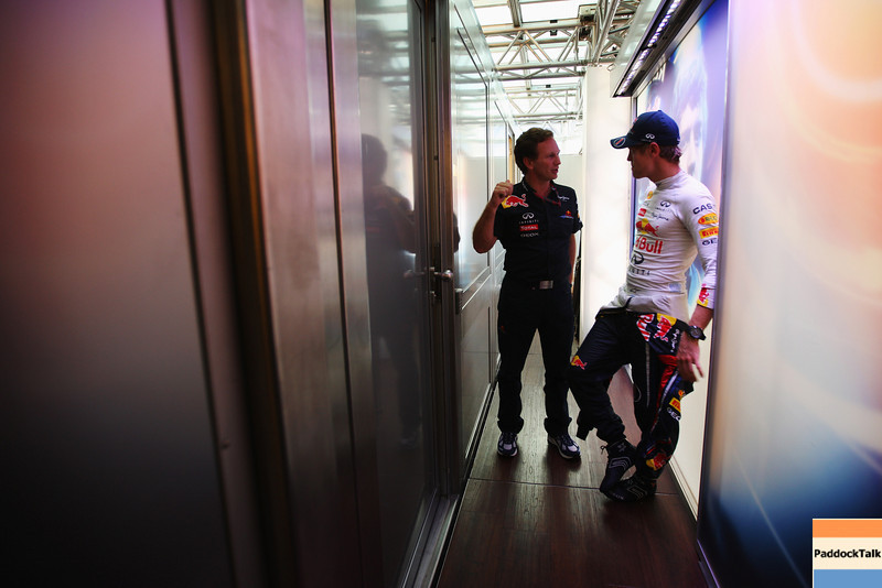 GEPA-11091199037 - FORMULA 1 - Grand Prix of Italy. Image shows team principal Christian Horner and Sebastian Vettel (GER/ Red Bull Racing). Photo: Getty Images/ Mark Thompson - For editorial use only. Image is free of charge