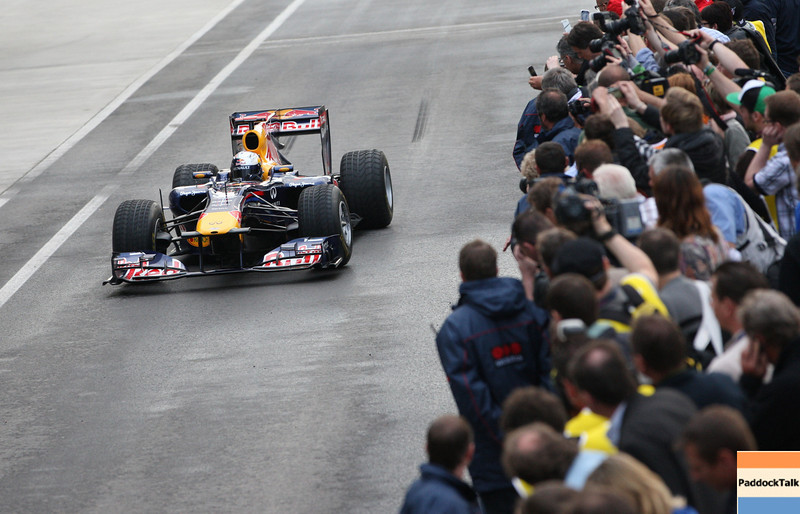 GEPA-14051134057 - SPIELBERG,AUSTRIA,14.MAY.11 - MOTORSPORT, FORMULA 1 - Media Day Red Bull Ring, project Spielberg. Image shows Sebastian Vettel (GER/ Red Bull Racing). Photo: GEPA pictures/ Markus Oberlaender - For editorial use only. Image is free of charge.